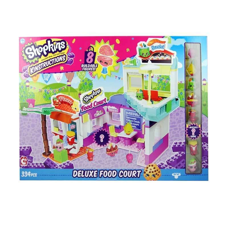 Shopkins Kinstructions Supermarket Food Court Deluxe Set Mainan Blok & Puzzle