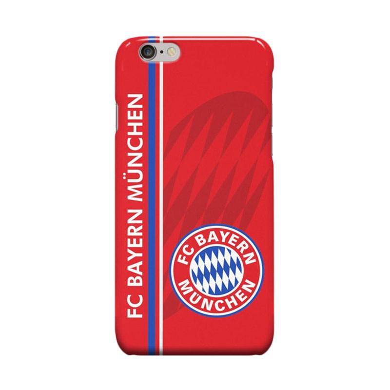 Indocustomcase Bayern Munchen FC Cover Casing for Apple iPhone 6 Plus or 6S Plus