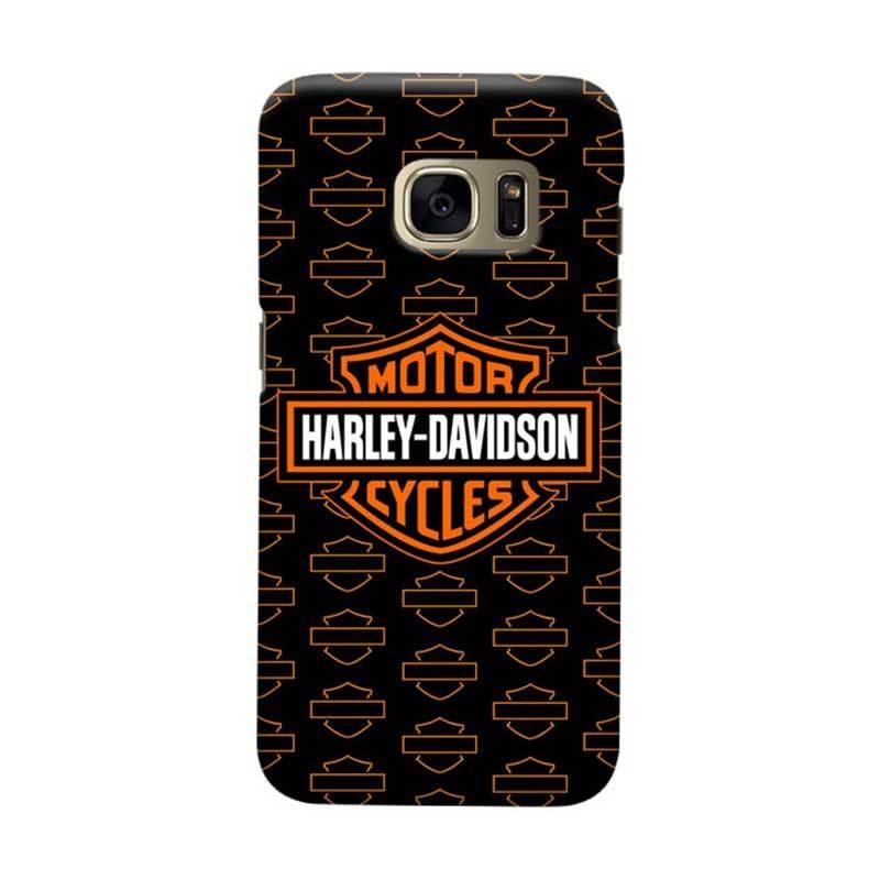 Indocustomcase Harley Davidson Logo Cover Casing for Samsung Galaxy S6 Edge