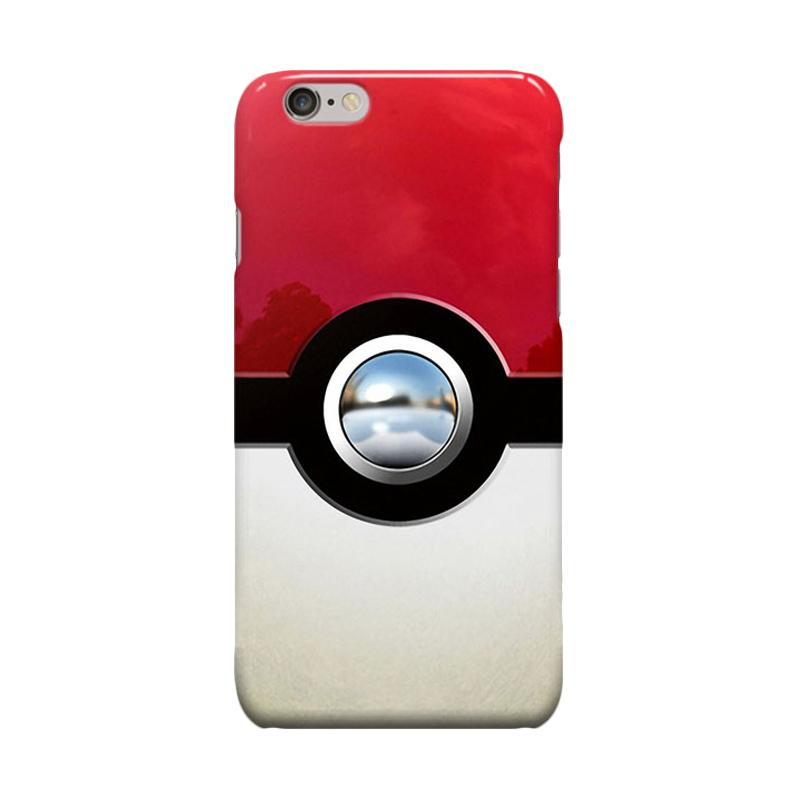 Indocustomcase Retro Chrome Pokeball Cover Casing for iPhone 6 Plus or 6S Plus