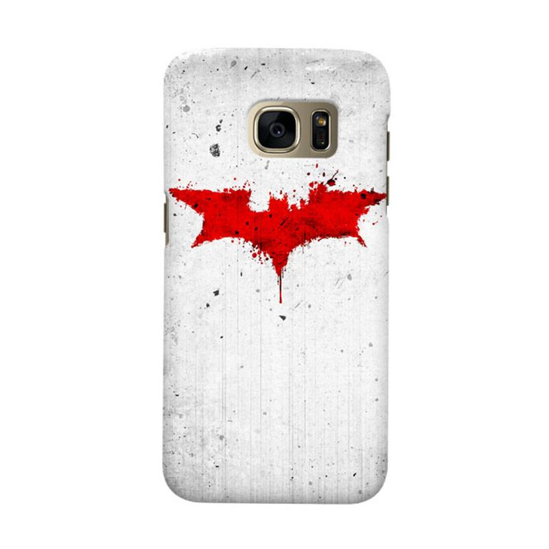 Indocustomcase Batman Grunge Logo White Cover Casing for Samsung Galaxy S6