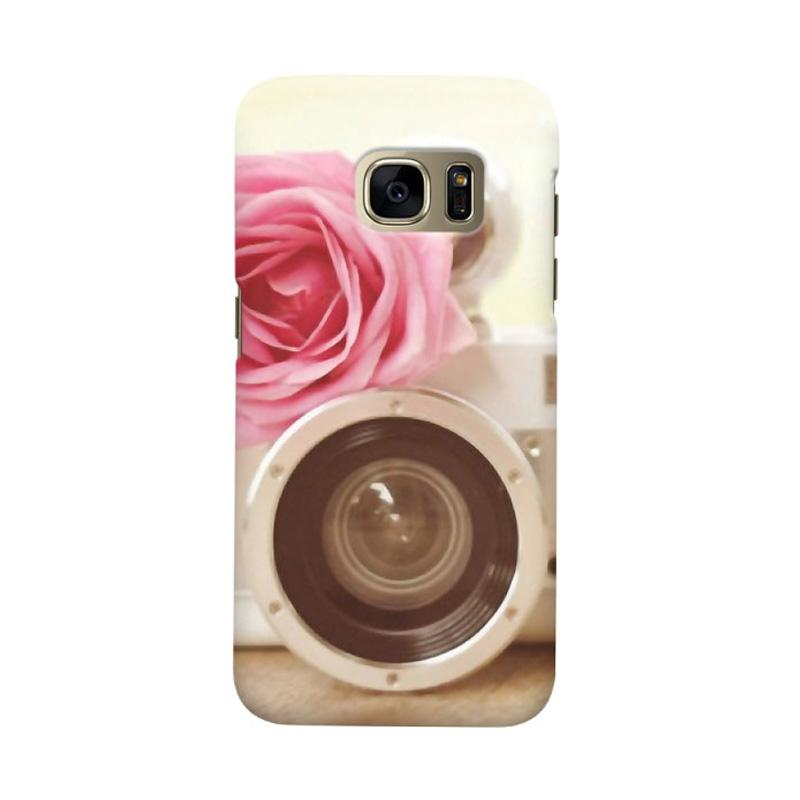 Indocustomcase Vintage Flower Camera Cover Casing for Samsung Galaxy S7 Edge