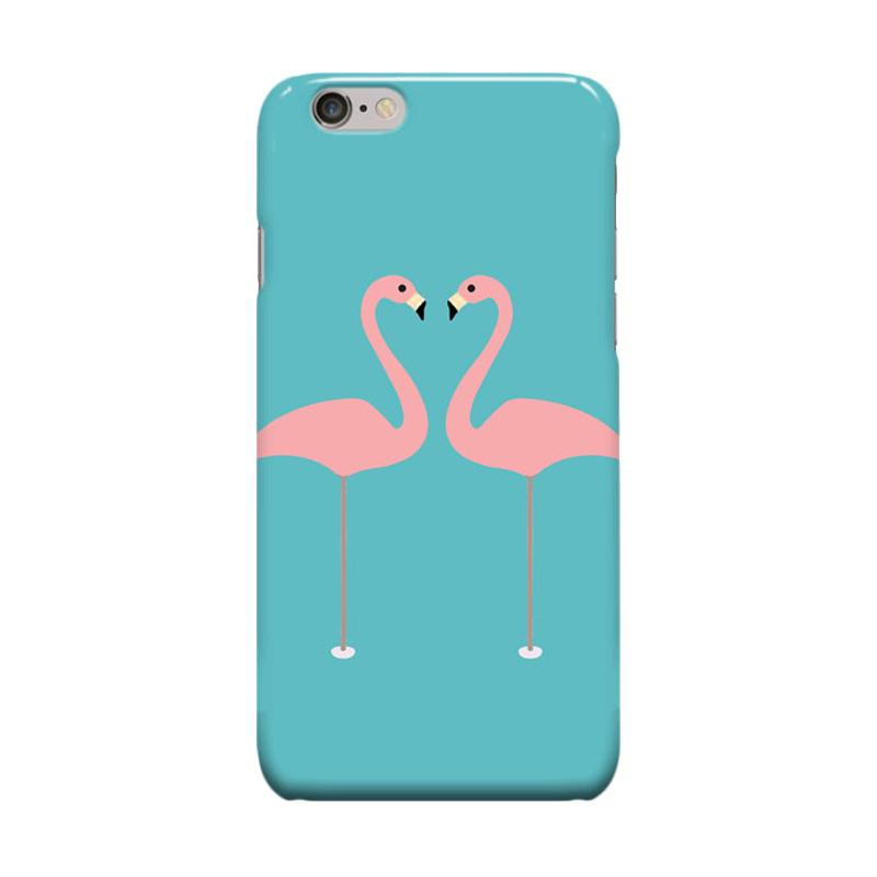 Indocustomcase Couple Flaminggo Cover Casing for Apple iPhone 6 Plus or 6S Plus