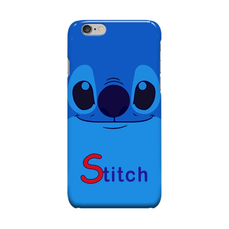 Indocustomcase Cartoon Stitch Smile Casing for Apple iPhone 6 Plus or 6S Plus