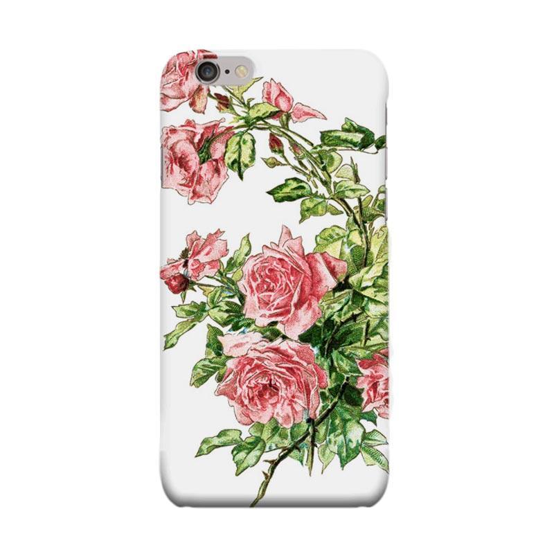 Indocustomcase Flower Rose Art Cover Casing for Apple iPhone 6 Plus or 6S Plus