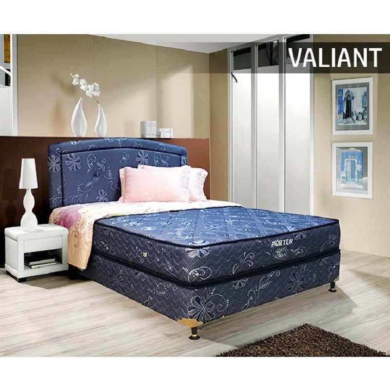 Porter Valiant Bonnel Spring Kasur Springbed - Blue [Mattress Only/Wilayah Jabodetabek]