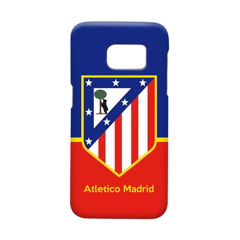Indocustomcase Atletico Madrid FC Logo Cover Casing for Samsung Galaxy S7 Edge