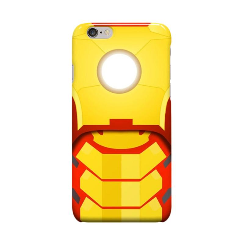 Indocustomcase Iron Man Cover Casing for Apple iPhone 6 Plus or 6S Plus - Yellow