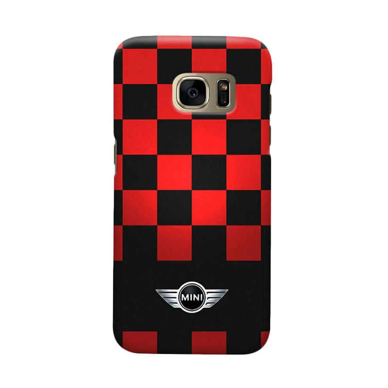 Indocustomcase Mini Cooper Racing Flag Cover Casing for Samsung Galaxy S6 Edge