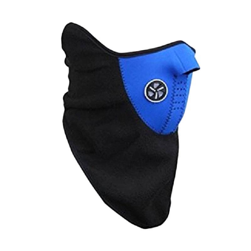Aimons Motor Ski Thermal Mask Masker Fun Cover Universal Polar Masker Buff Half Face - Biru