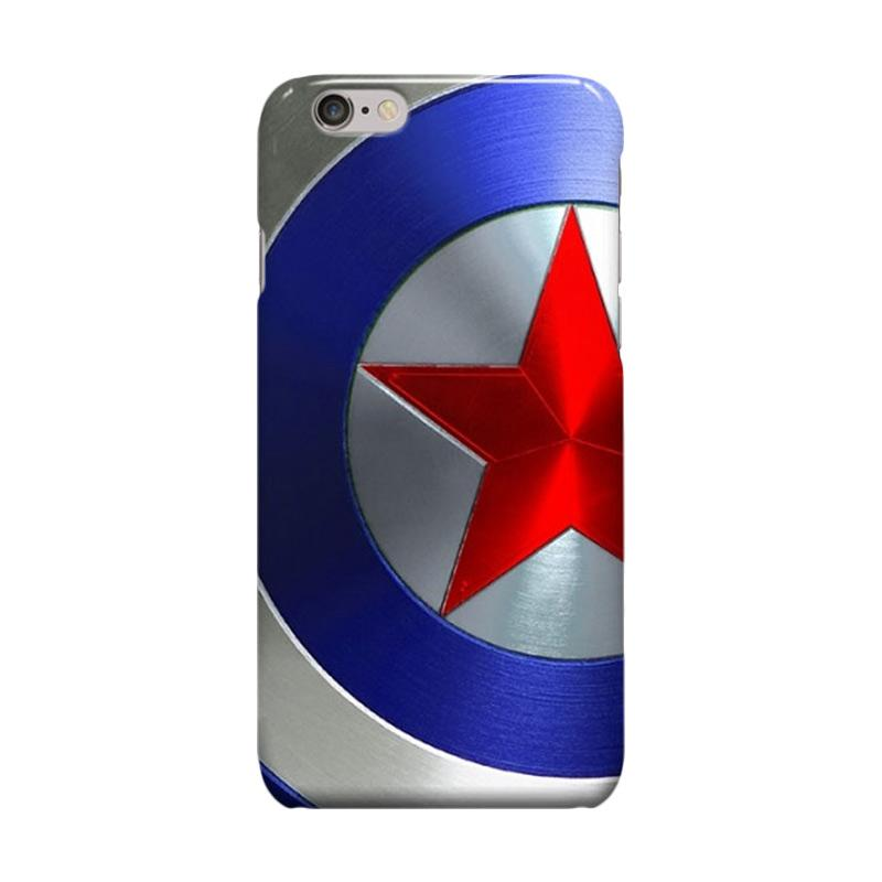 Indocustomcase Captain America Shield CAS02 Casing for Apple iPhone 6 Plus or 6S Plus