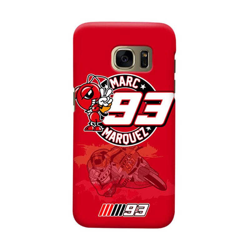 Indocustomcase Marc Marquez MM93 Logo Cover Casing for Samsung Galaxy S6 Edge