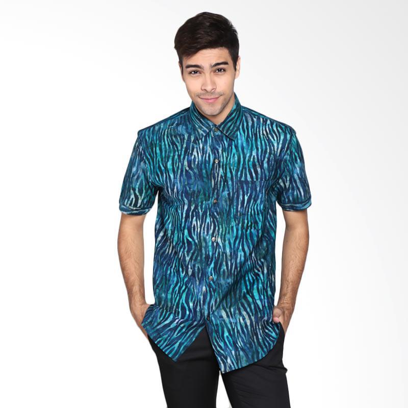 Batik Pria Tampan PKMPD-04081678C-Marine Men Water Zebra Medium Slimfit Shirt Batik Pria