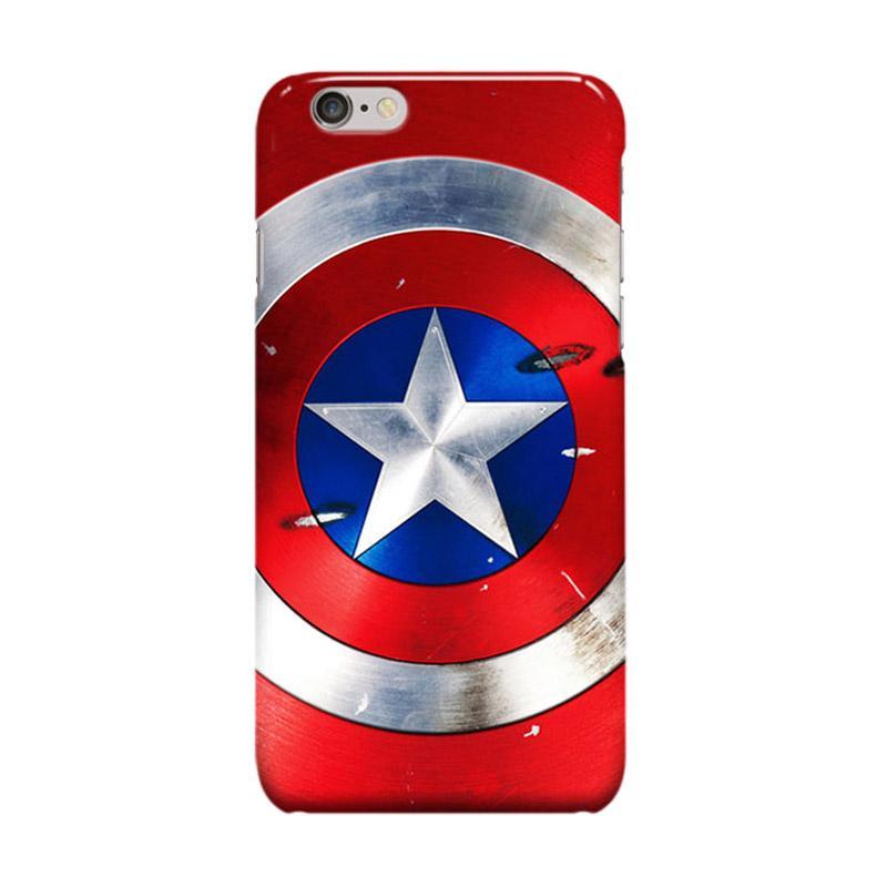 Indocustomcase Captain America Shield CAS03 Casing for Apple iPhone 6 Plus or 6S Plus