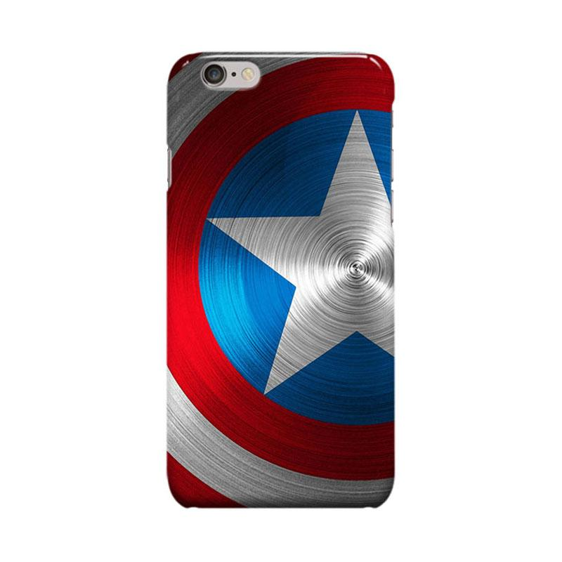 Indocustomcase Captain America Shield CAS04 Casing for Apple iPhone 6 Plus or 6S Plus