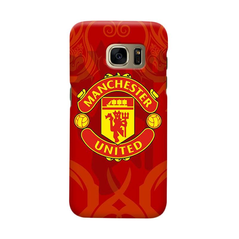 Indocustomcase Manchester United MANUFC10 Cover Casing for Samsung Galaxy S6