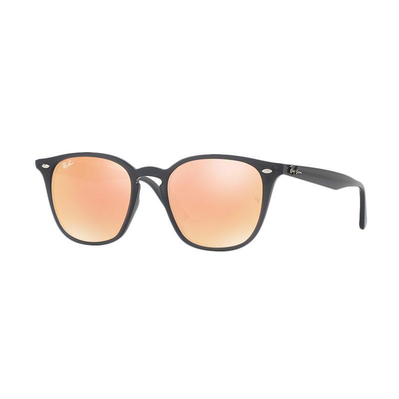 Ray-Ban Rb4258F 62307J Sunglass - Grey Orange [Size 52/Shiny Opal Grey Frame/Orange Flash Orange Lenses]