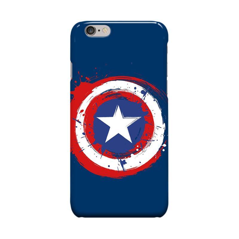 Indocustomcase Captain America Shield CAS05 Casing for Apple iPhone 6 Plus or 6S Plus