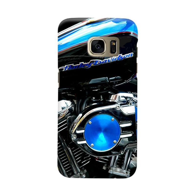 Indocustomcase Harley Davidson Motorcycle Cover Casing for Samsung Galaxy S7