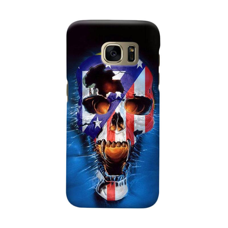 Indocustomcase Skull Atletico Madrid Casing for Samsung Galaxy S6 Edge