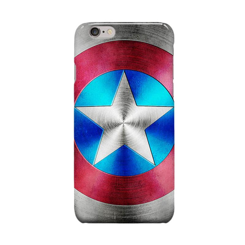 Indocustomcase Captain America Shield CAS06 Casing for Apple iPhone 6 Plus or 6S Plus