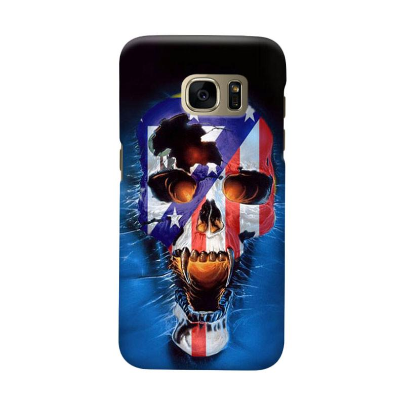 Indocustomcase Skull Atletico Madrid Cover Hardcase Casing for Samsung Galaxy S7 Edge