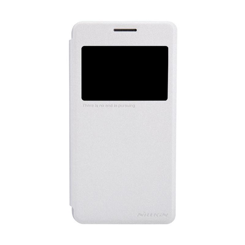 Nillkin Original Sparkle Leather Flip Cover Casing for Samsung Galaxy Grand Prime - White