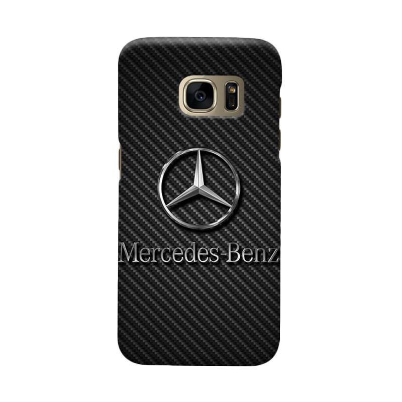 Indocustomcase Mercedes Benz On Carbon Cover Casing for Samsung Galaxy S6 Edge