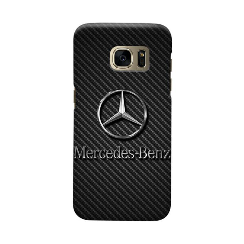 Indocustomcase Mercedes Benz On Carbon Cover Hardcase Casing for Samsung Galaxy S7 Edge