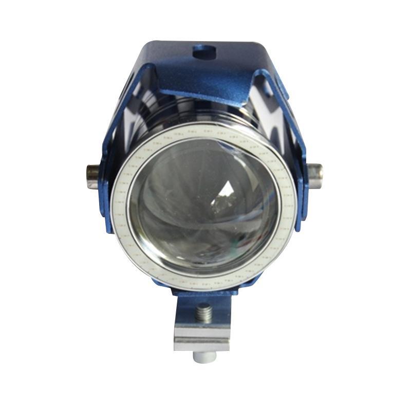 harga Golden Six V21 Projector Transformer Universal U7 Lampu Depan LED with Angel Eye - Biru Blibli.com