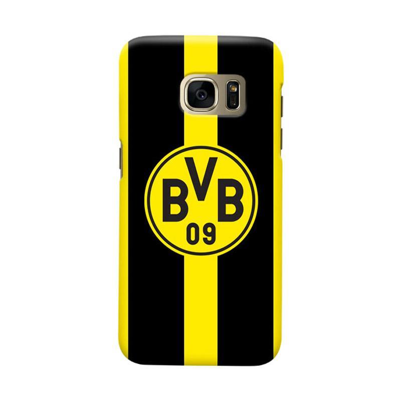 Indocustomcase Borussia Dortmund FC Cover Casing for Samsung Galaxy S6 Edge