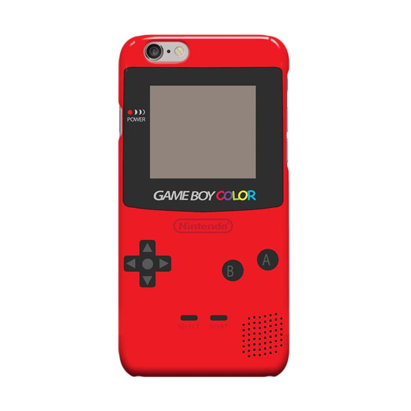 Indocustomcase Nintendo Red Game Boy Cover Casing for Apple iPhone 6 Plus - 6S Plus