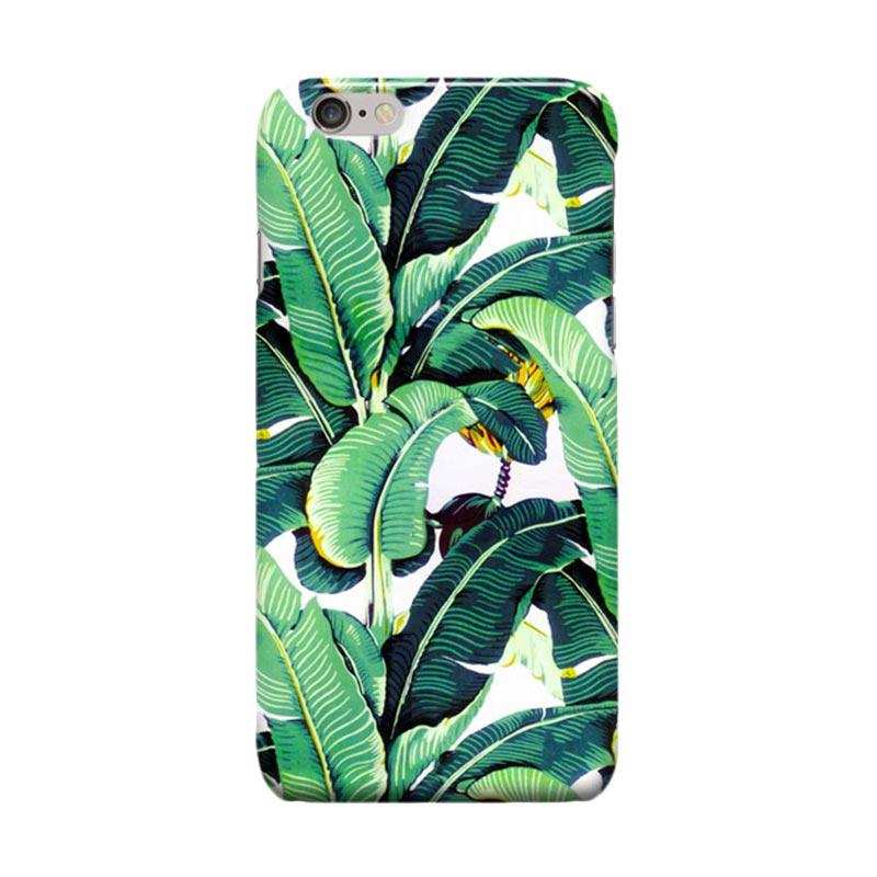 Indocustomcase Banana Leaf Pattern Cover Casing for Apple iPhone 6 Plus or 6S Plus