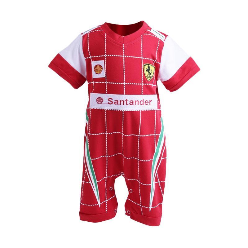 Chloe Babyshop Jumper Boy Infant Tuxedo Santander Square F1003 Jumpsuit - Merah