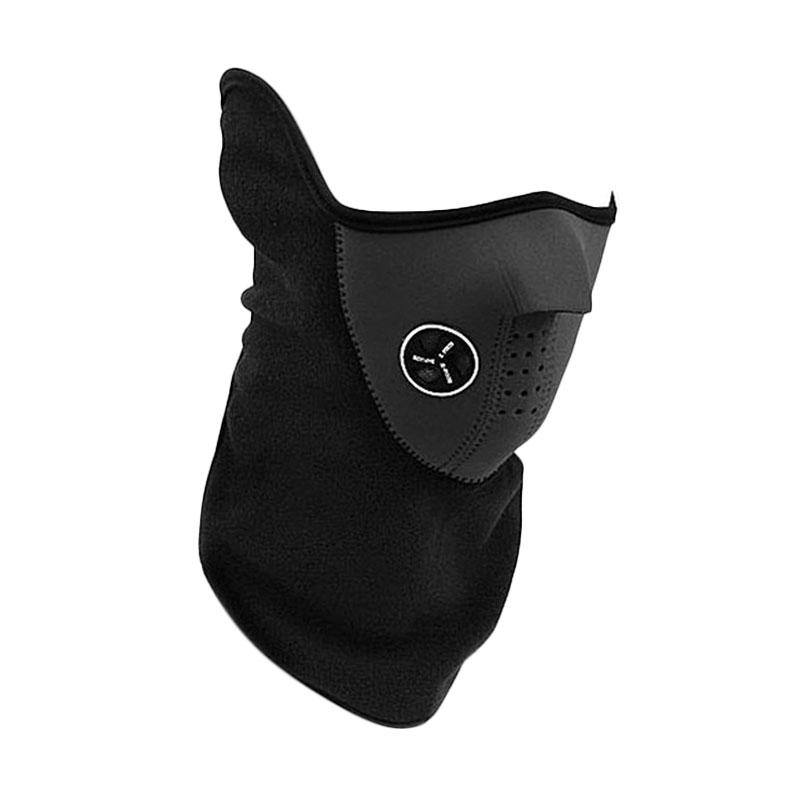 Aimons Polar Buff Motor and Ski Thermal Mask Half Face Cover Universal Masker - Hitam