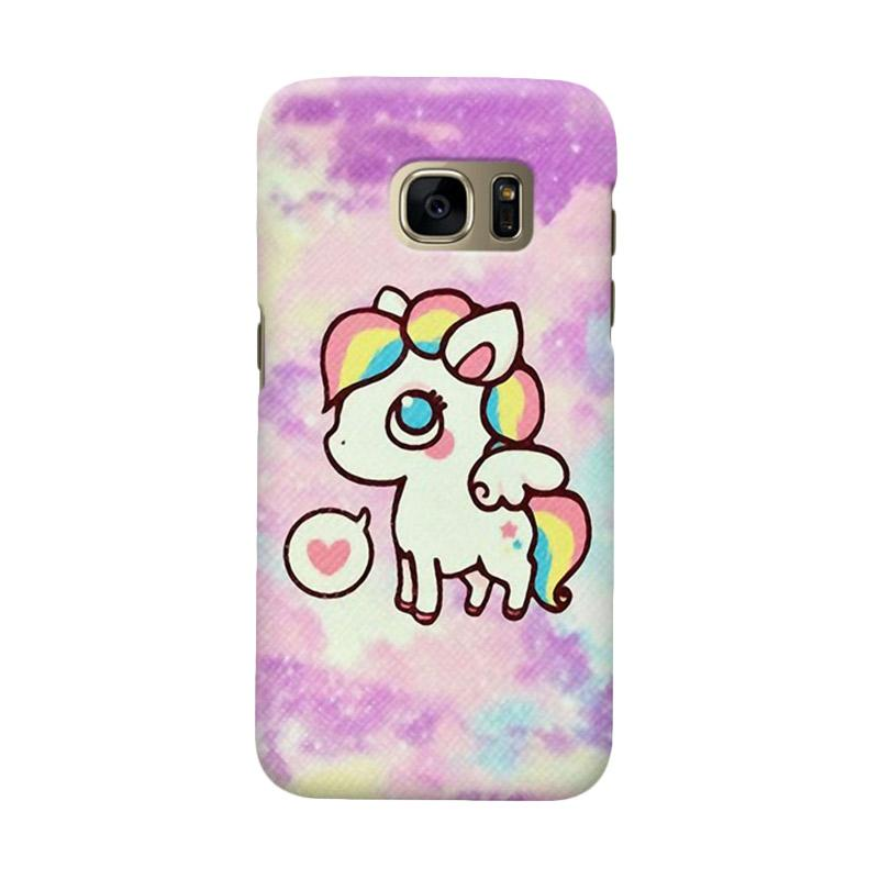 Indocustomcase Cartoon Little Pony Cover Casing for Samsung Galaxy S6 Edge
