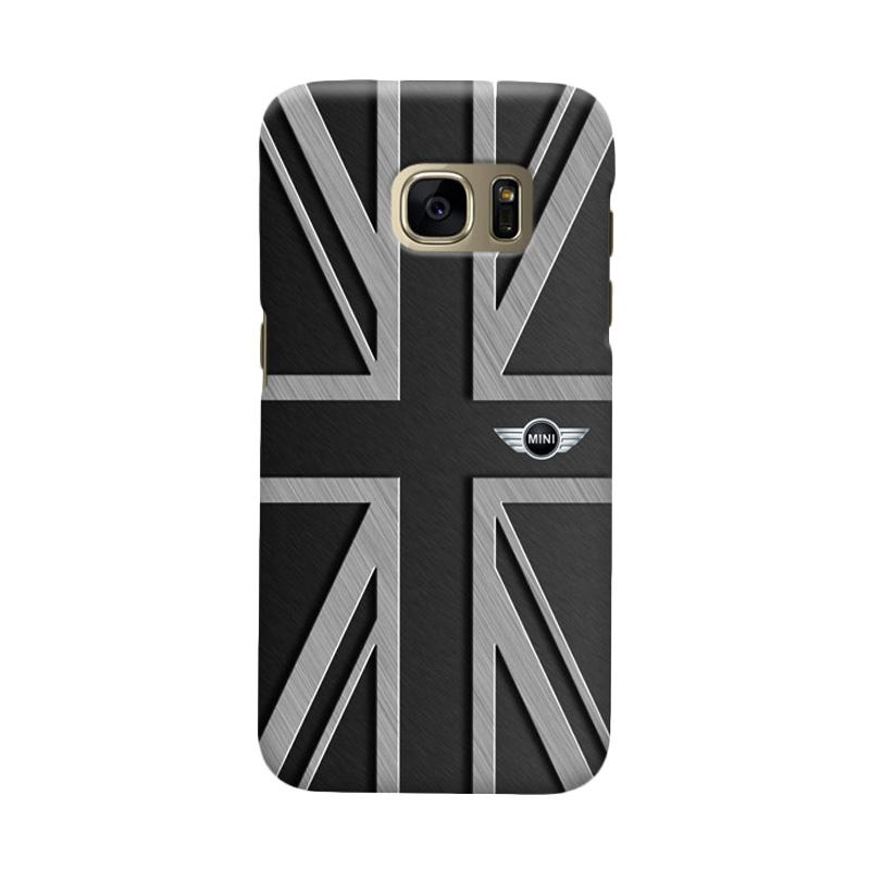 Indocustomcase Mini Cooper Union Jack Cover Casing for Samsung Galaxy S6 Edge