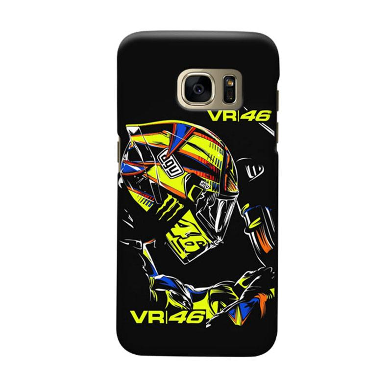 Indocustomcase Valentino Rossi VR46 Cover Casing for Samsung Galaxy S7 Edge