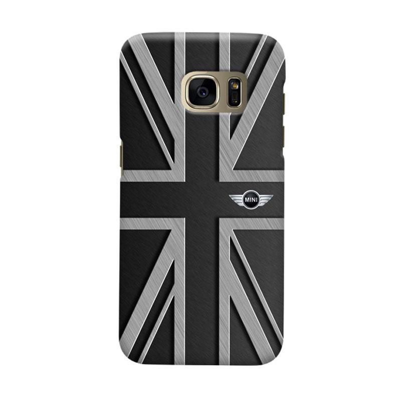 Indocustomcase Mini Cooper Union Jack Cover Hardcase Casing for Samsung Galaxy S7 Edge