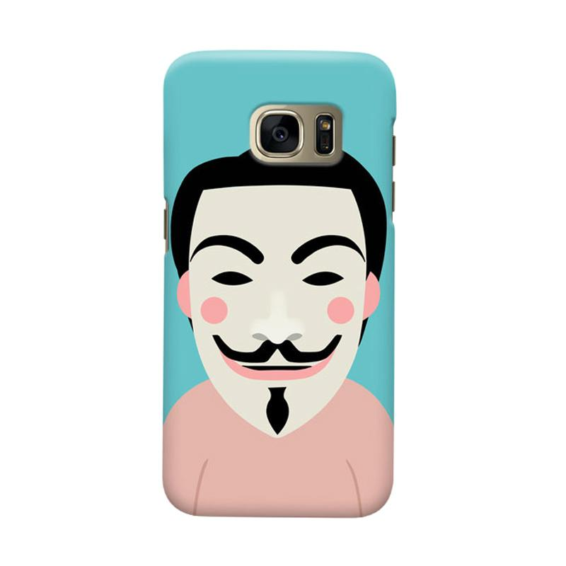Indocustomcase Anonymous Mask Cartoon Cover Casing for Samsung Galaxy S6