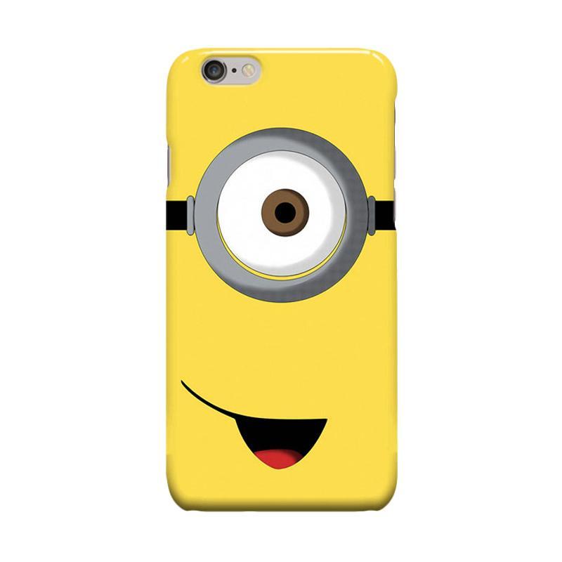 Indocustomcase Cartoon Minion One Eye Casing for Apple iPhone 6 Plus or 6S Plus