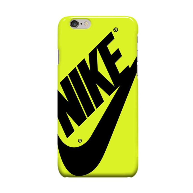 Indocustomcase Nike Logo Cover Casing for Apple iPhone 6 Plus or 6S Plus - Yellow