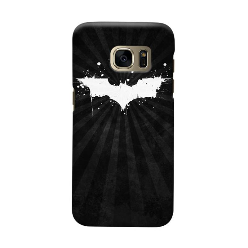 Indocustomcase Batman Grunge Logo Black Cover Casing for Samsung Galaxy S6 Edge