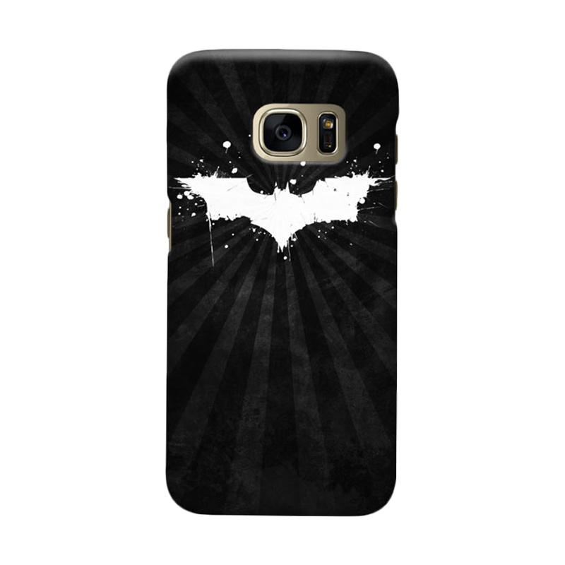 Indocustomcase Batman Grunge Logo Black Cover Casing for Samsung Galaxy S7 Edge
