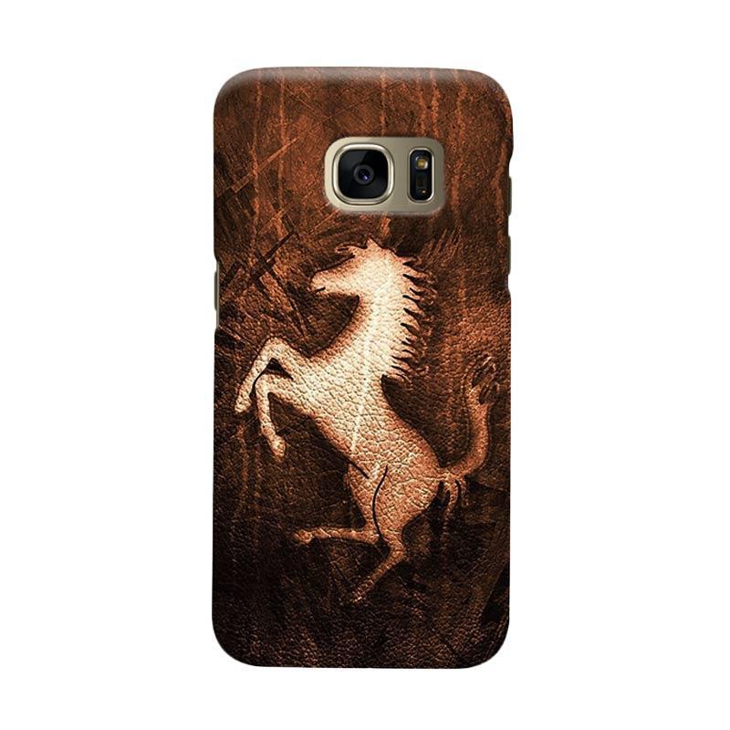 Indocustomcase Ferarri The Wild Horse Cover Casing for Samsung Galaxy S7 Edge