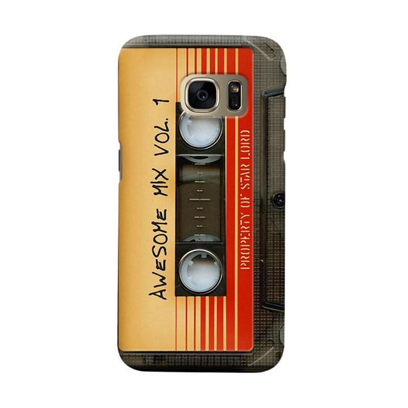 Indocustomcase Awesome Mix Vol 1 Cassette Cover Casing for Samsung Galaxy S6 Edge