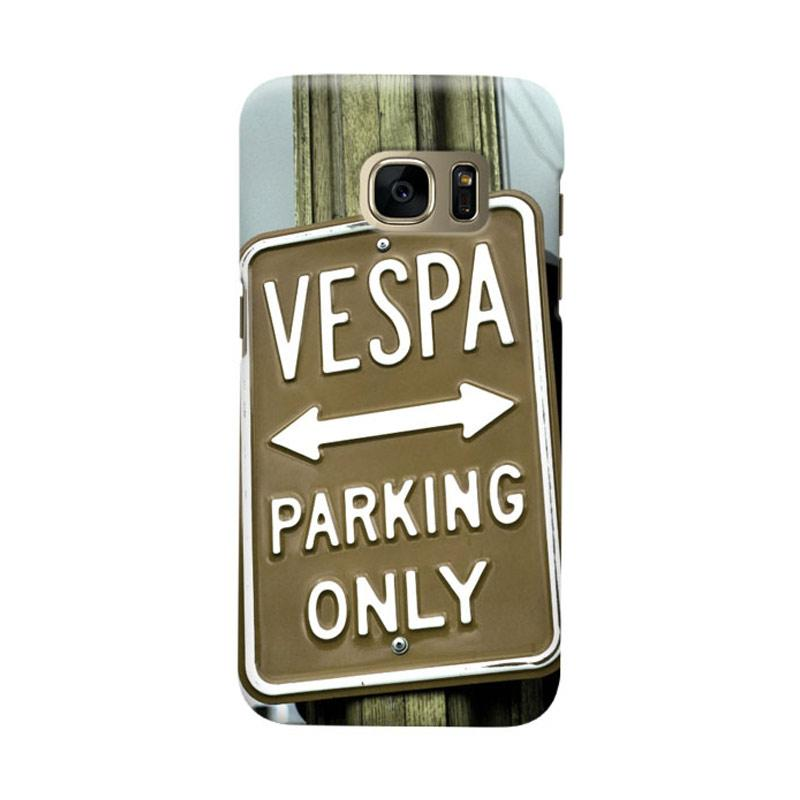 Indocustomcase Vespa Parking Poster Casing For Samsung Galaxy S7 Edge