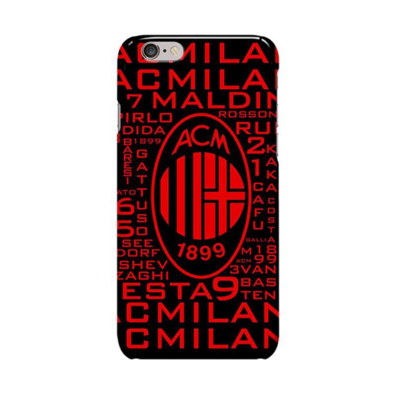 Indocustomcase AC Milan FC ACM02 We Are AC Milan Cover Casing for Apple iPhone 6 Plus or 6S Plus