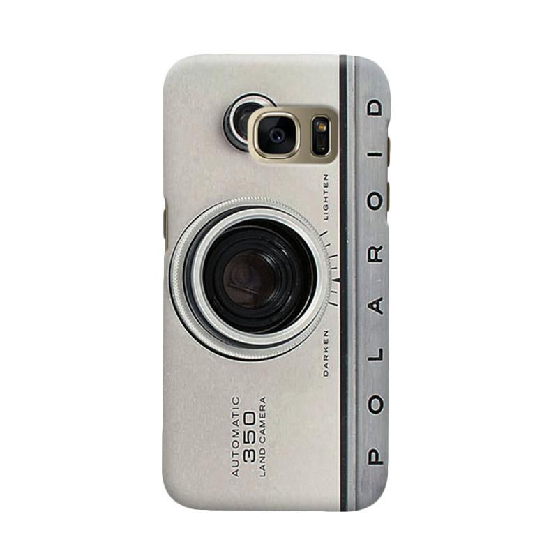 Indocustomcase Silver Camera Polaroid Casing for Samsung Galaxy S6 Edge