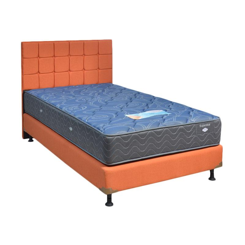 Comforta Super Star HB Sydney Sweet Set Spring Bed - Orange [Full Set/Khusus Jabodetabek]